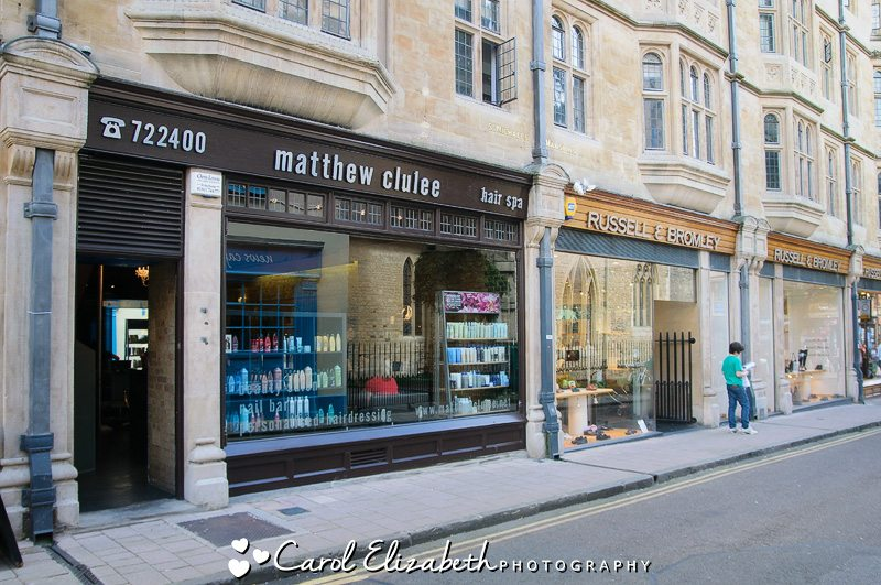 Bridal preparations in Oxford - outside view of the salon