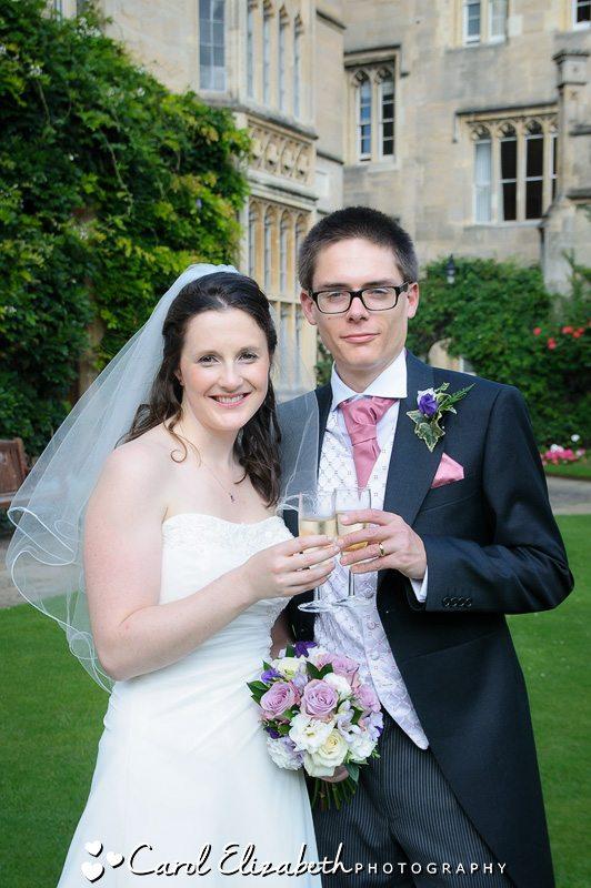 Wedding photographer at Pembroke College