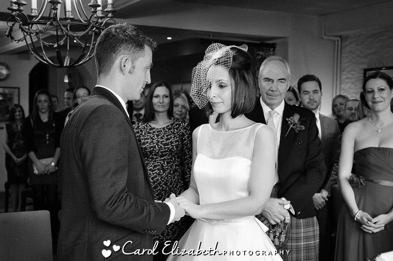 Natural wedding photography at The Bay Tree in Burford