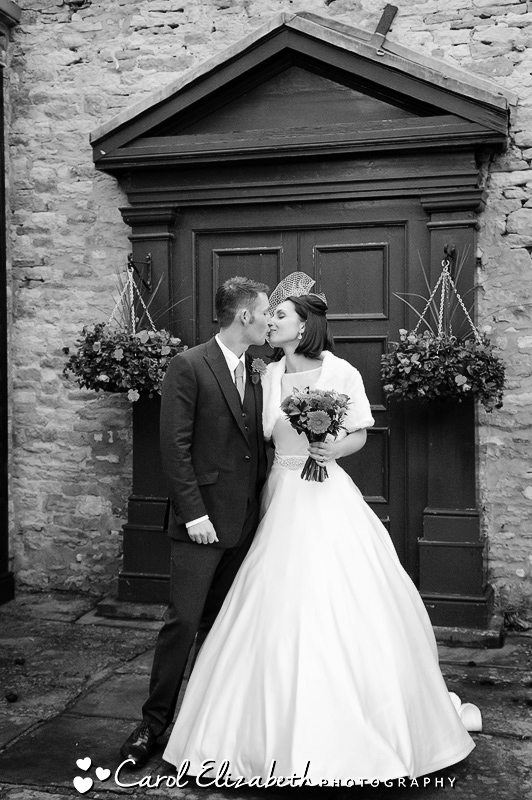 Black and white photography at The Bay Tree in Burford Oxfordshire
