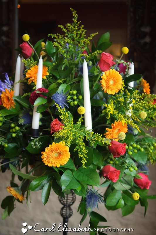Autumn wedding flowers at The Bay Tree