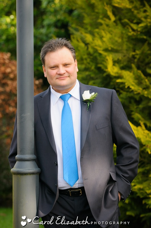 Groom at Bicester wedding