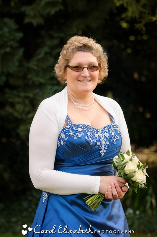 Bride with blue dress