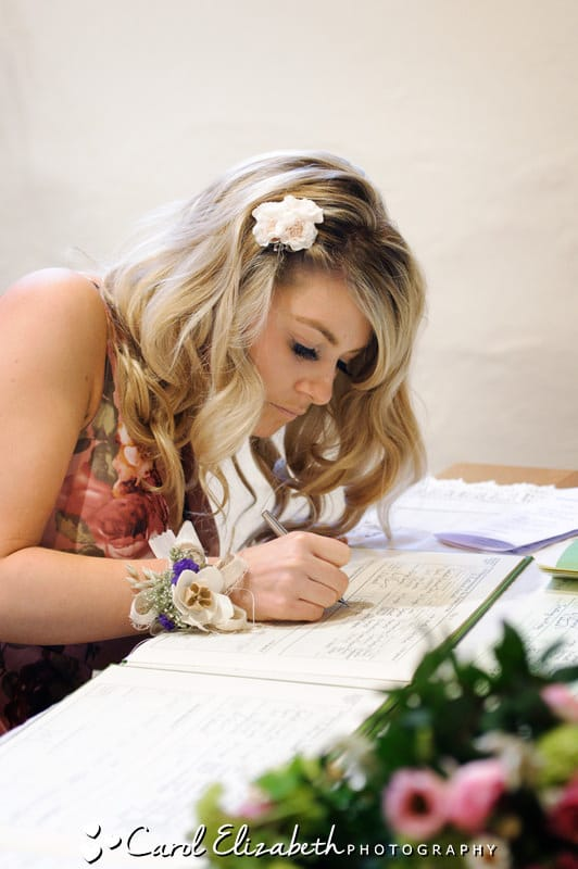 signing the wedding register