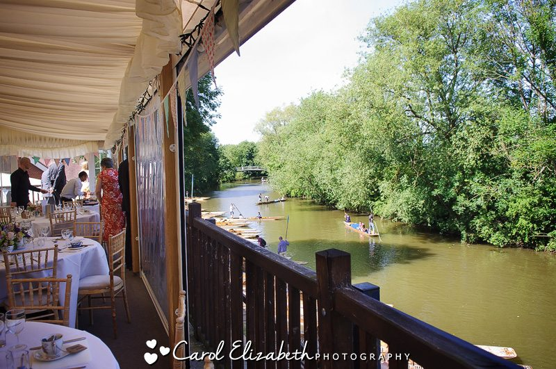 View down the river at Cherwell Boat House