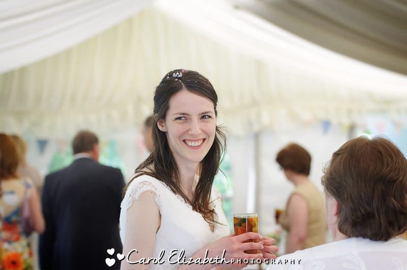 Bride at her wedding day at Cherwell Boathouse