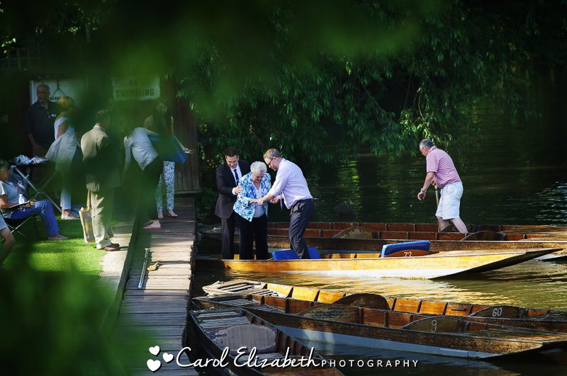 On the river at Cherwell Boathouse
