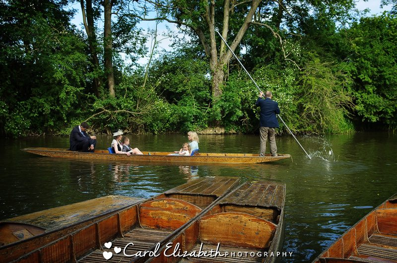 Punting at Cherwell Boathouse