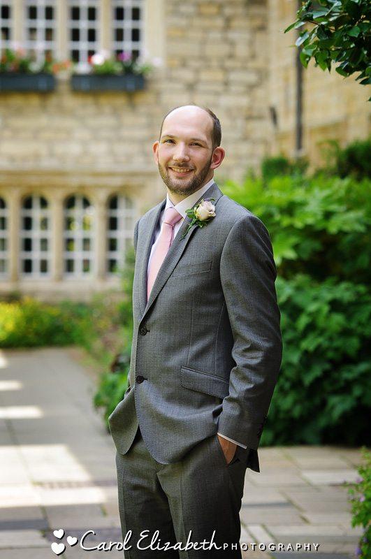 Wedding photographer Oxfordshire - Groom before the wedding