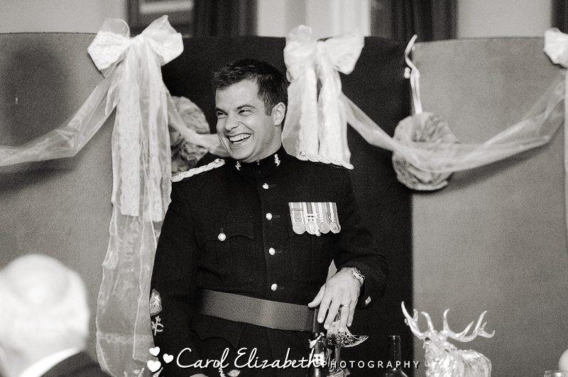 Groom speech at military wedding