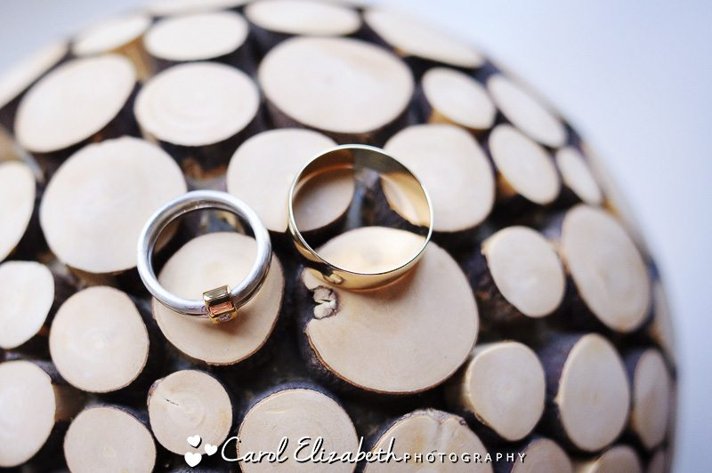 wedding photo close up of rings