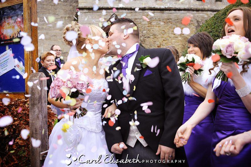 Confetti in Radley by Oxfordshire wedding photographer