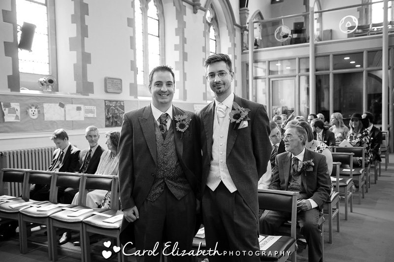 Tom and Lizzi's wedding in Abingdon then wedding reception at The Bell Hampton Poyle.  Four Pillars wedding day photography.