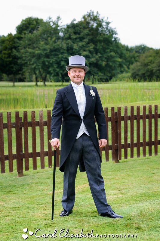 Groom with tophat and tails