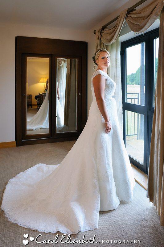 Bridal portrait in the mirror