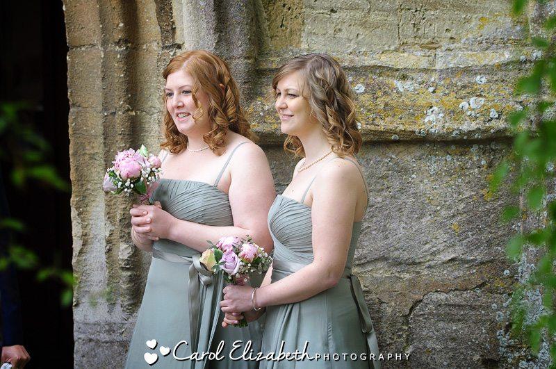 Bridesmaids - Lechlade church wedding photography