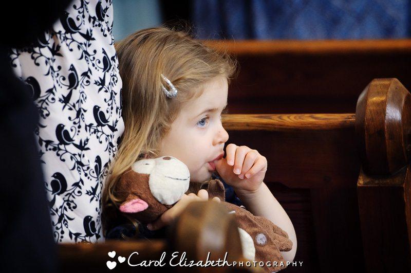 Little girl informal wedding photos