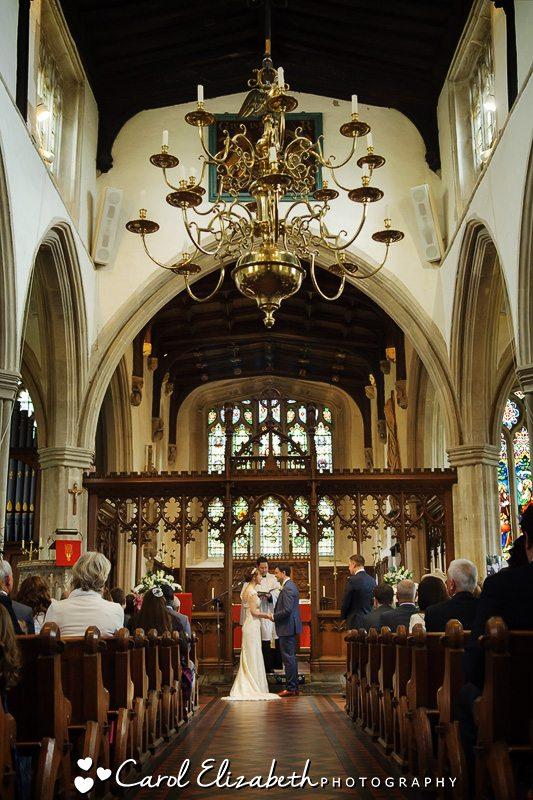 Wedding photos at Lechlade church