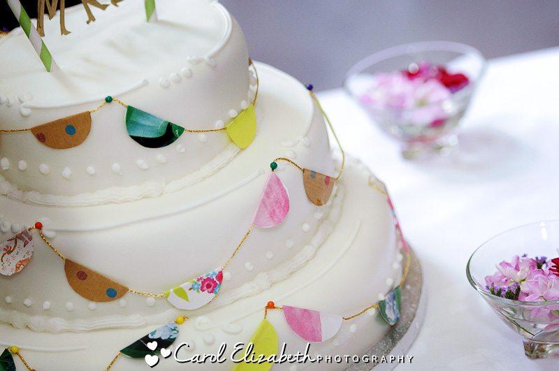 White vintage wedding cake