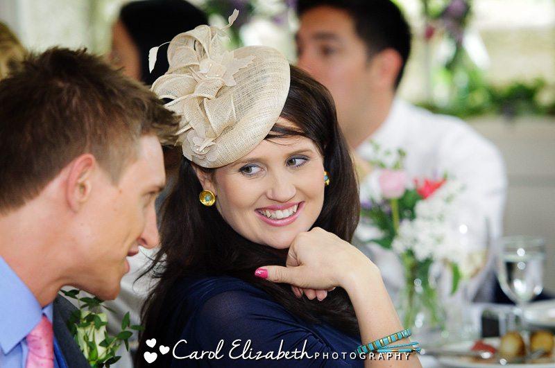 Southrop village hall wedding photos of guests