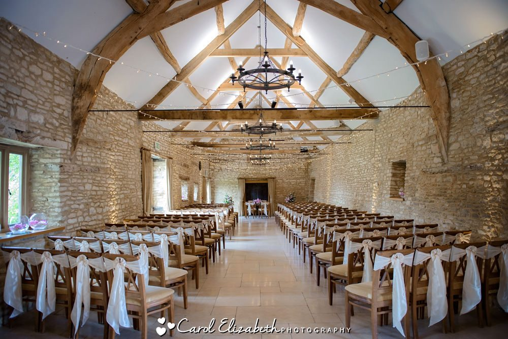 indoor wedding ceremony room at Caswell House