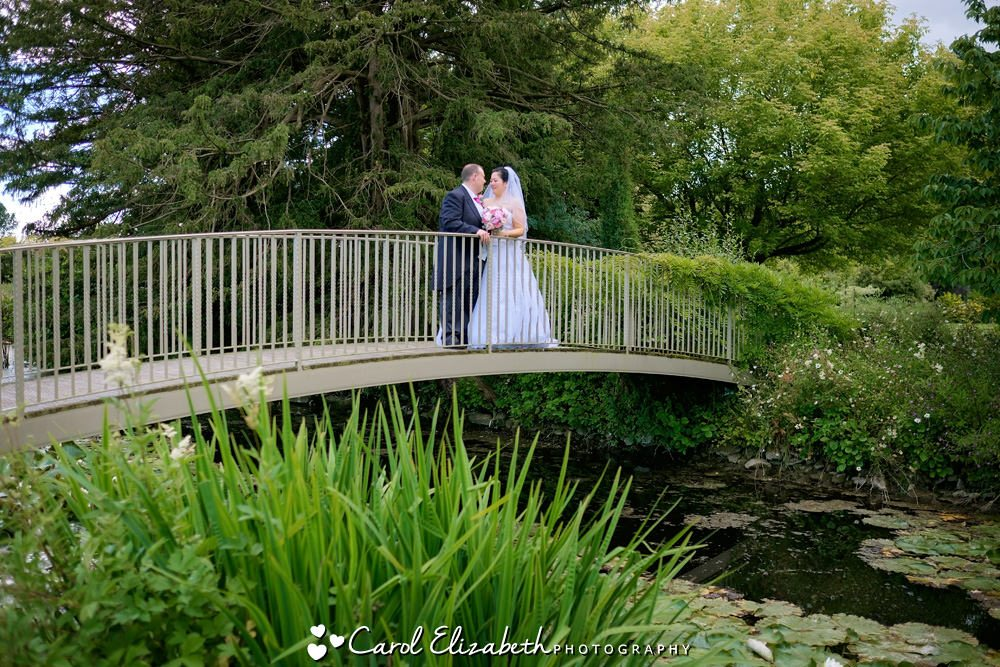 Bride and groom at Caswell House wedding
