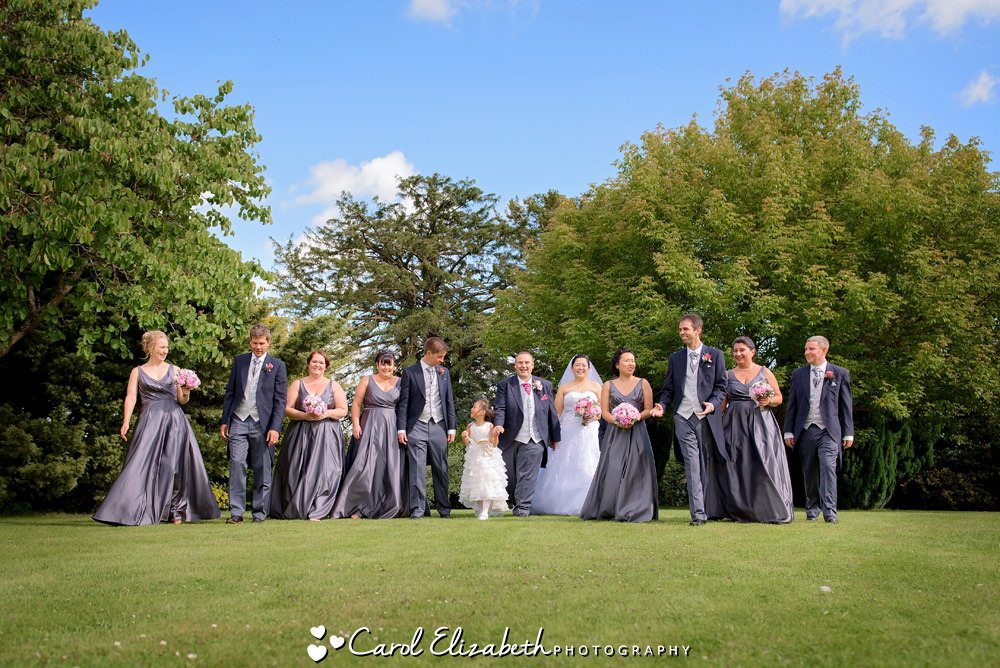 Bridal party at Caswell House wedding