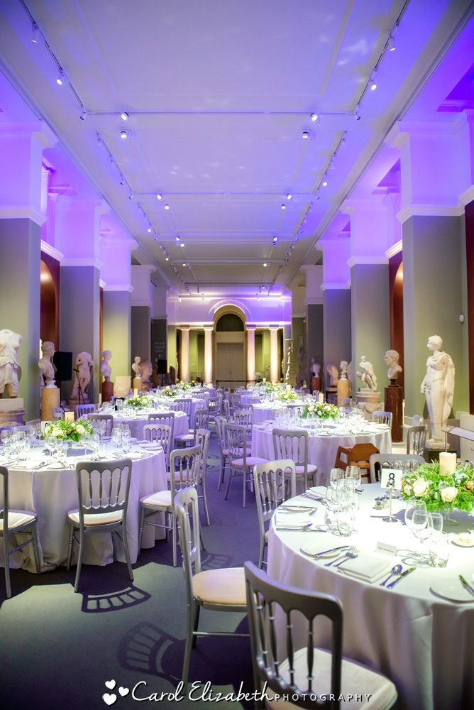 Wedding reception at The Ashmolean Museum in Oxford