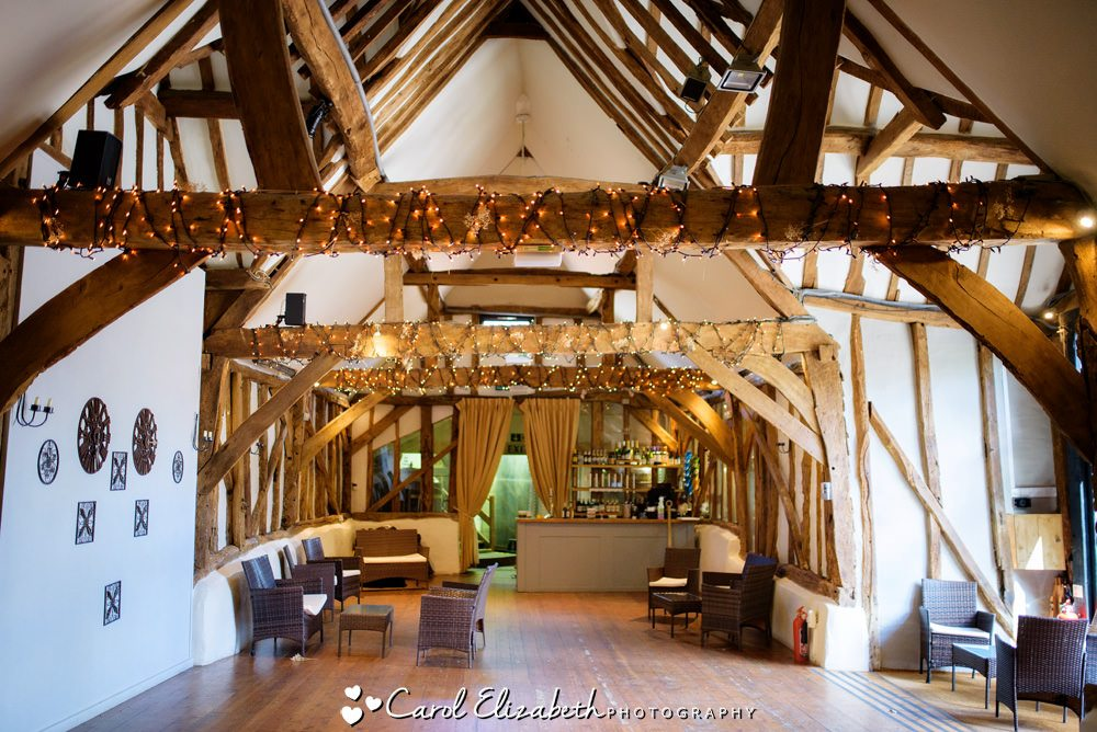The bar at Old Luxters barn and wedding venue