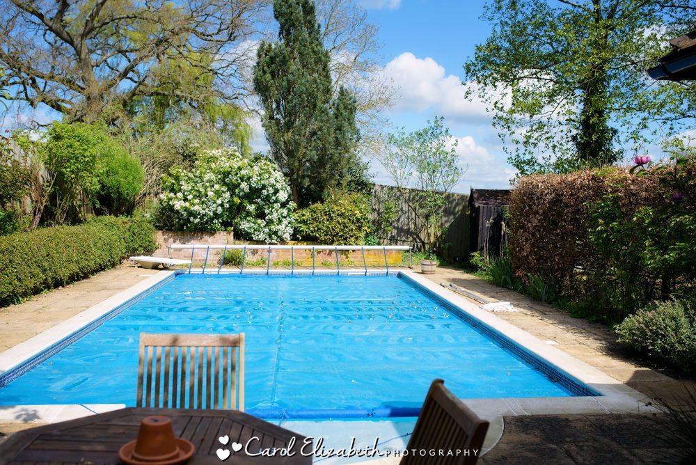 Old Luxters Barn swimming pool