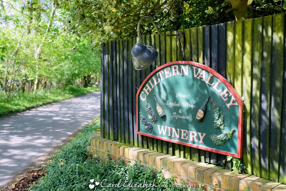 Chiltern Valley Winery sign outside the venue