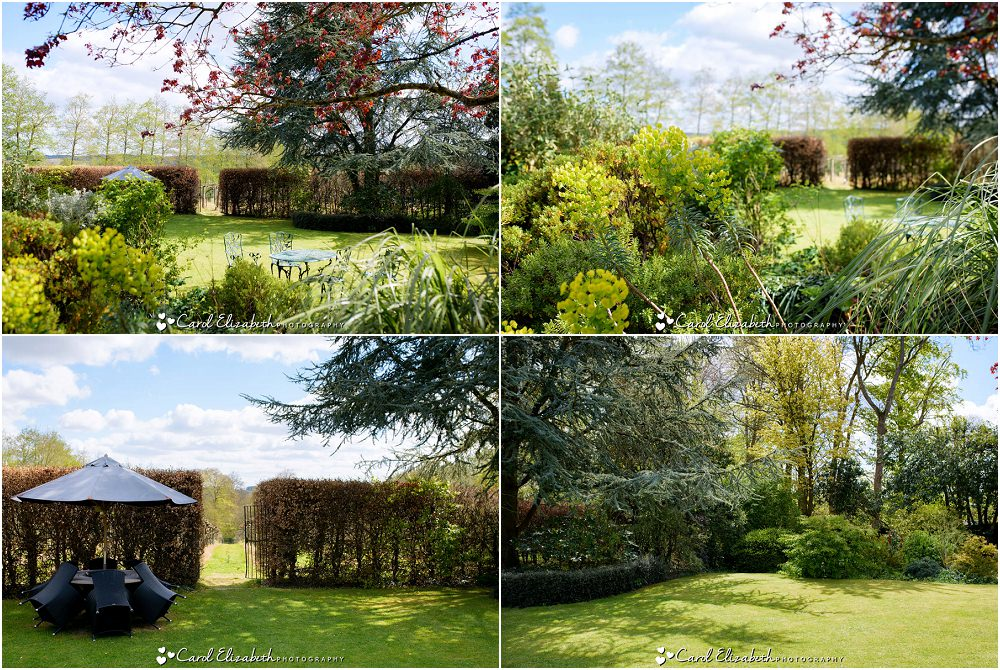 The gardens at Old Luxters Barn wedding venue