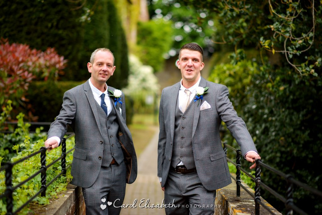 Groom and best man before the wedding