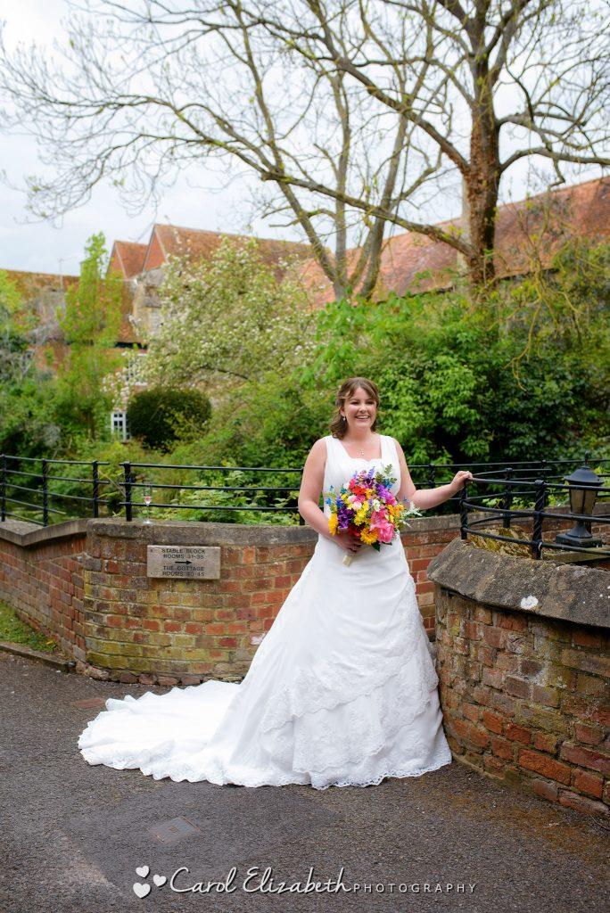 Bride at Coseners House wedding in Abingdon