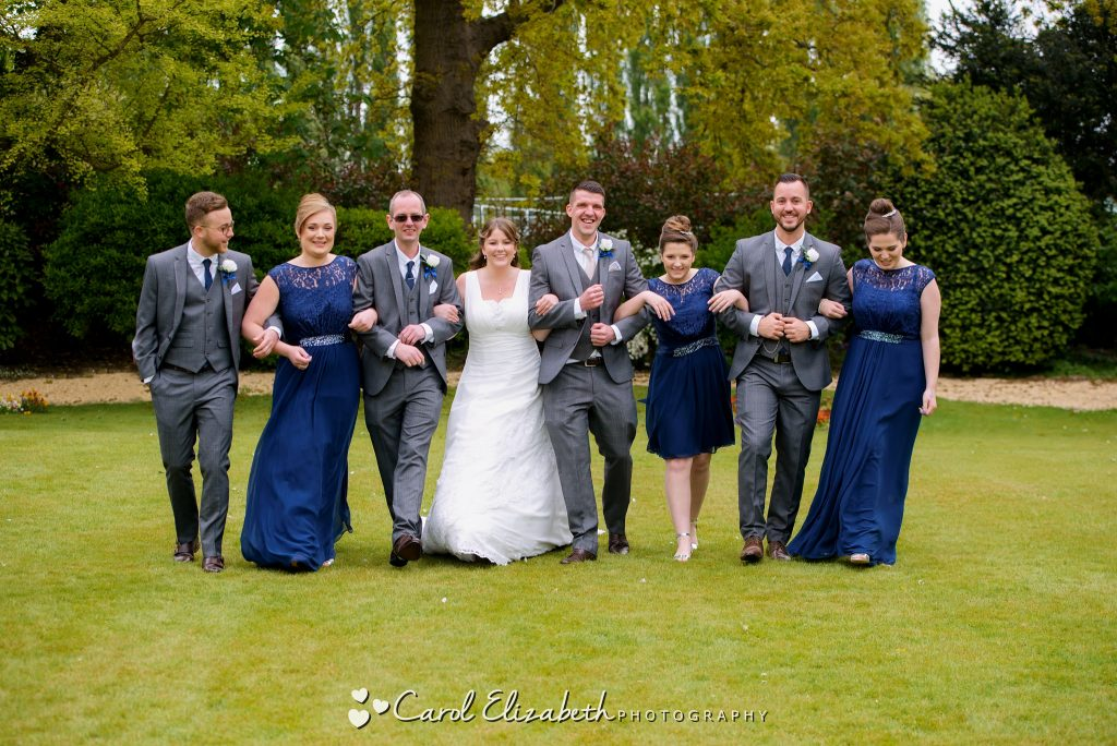 Bridal party at Coseners House wedding
