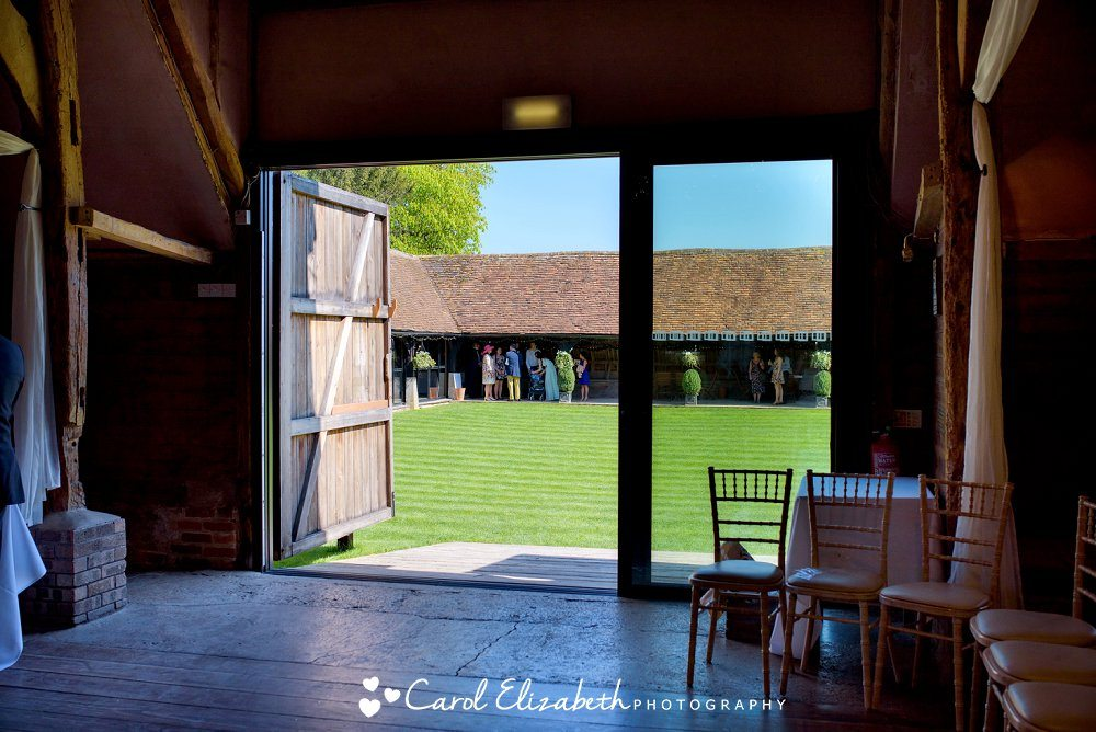 Looking out through the barn doors