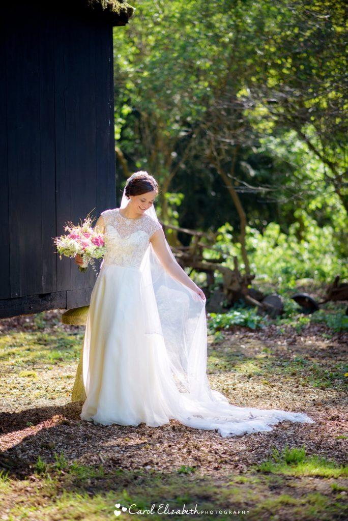 Bride at Oxfordshire wedding