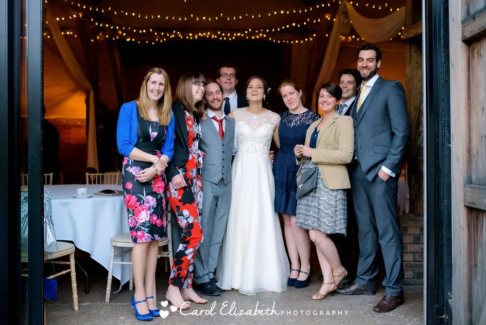 A relaxed group photo at Lains Barn