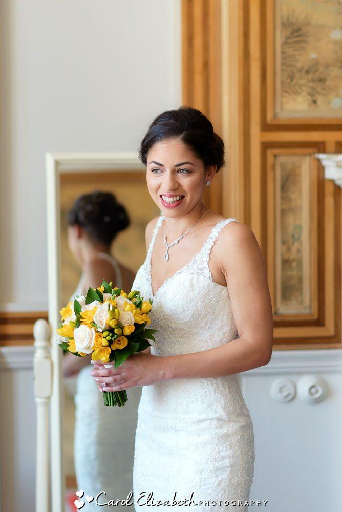 Classic bride at Eynsham Hall wedding