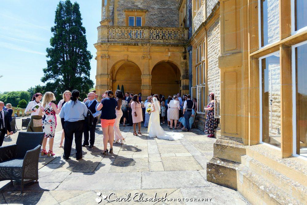 Guests at Eynsham Hall wedding