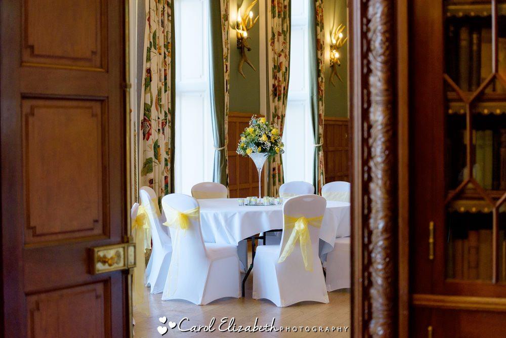 Eynsham Hall wedding reception