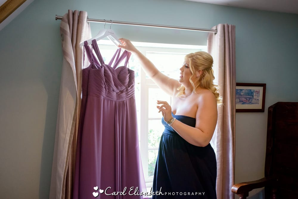 Bridesmaids dresses in the window