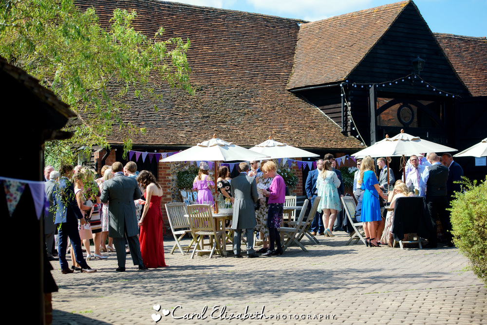 Guests outside Old Luxters Barn