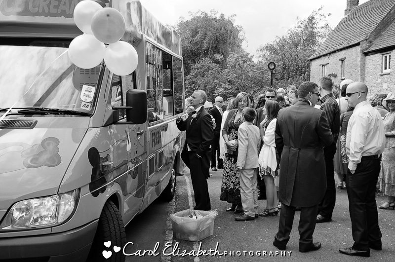 Ice-cream van for weddings