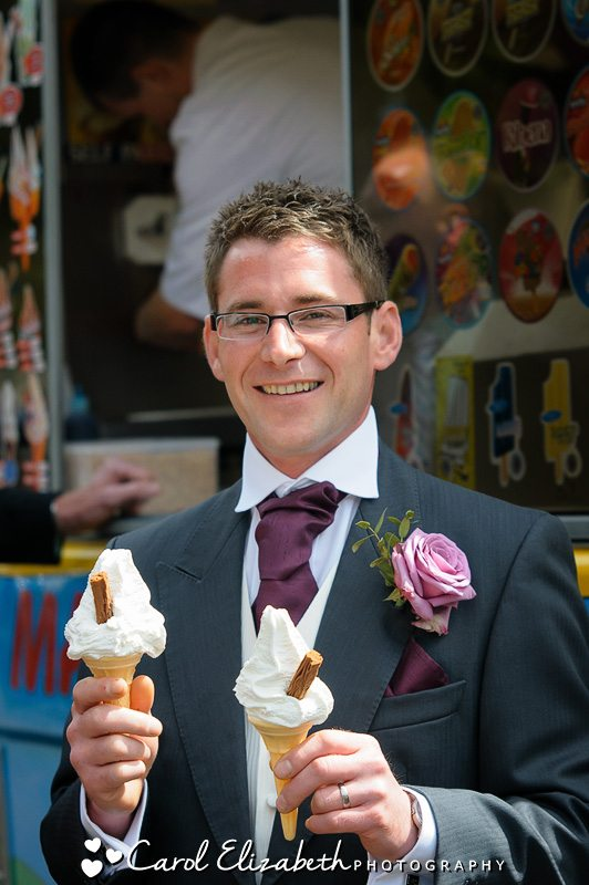Wedding day ice-cream van