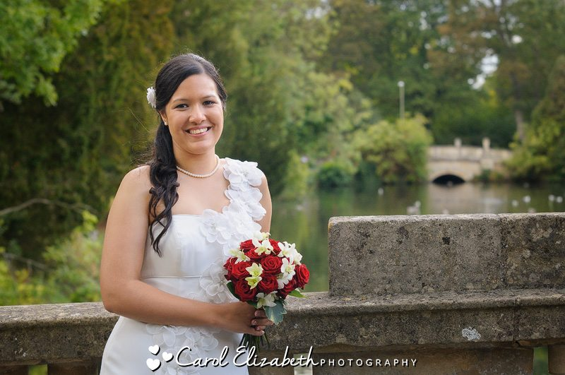 Bridal portraits at Pittville Pump Rooms