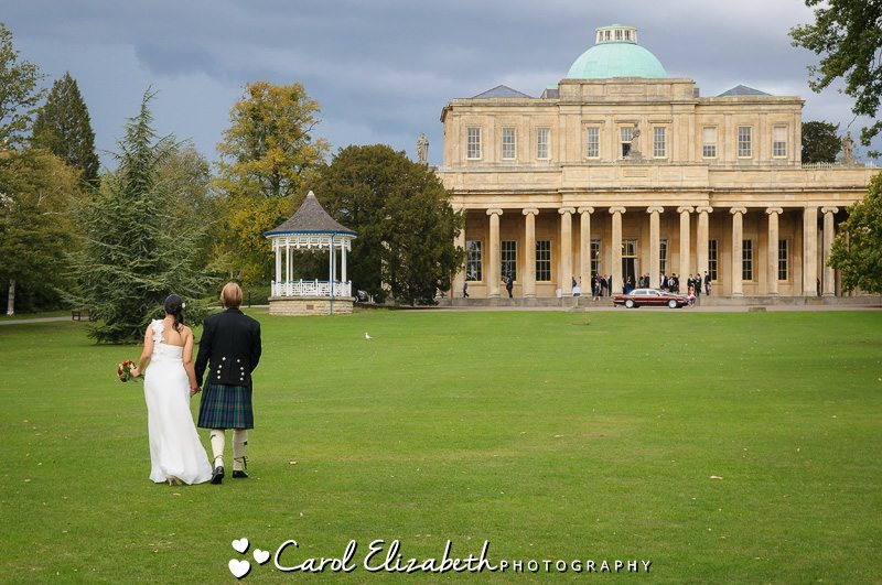 Bride and groom at Pittville Pump Rooms wedding