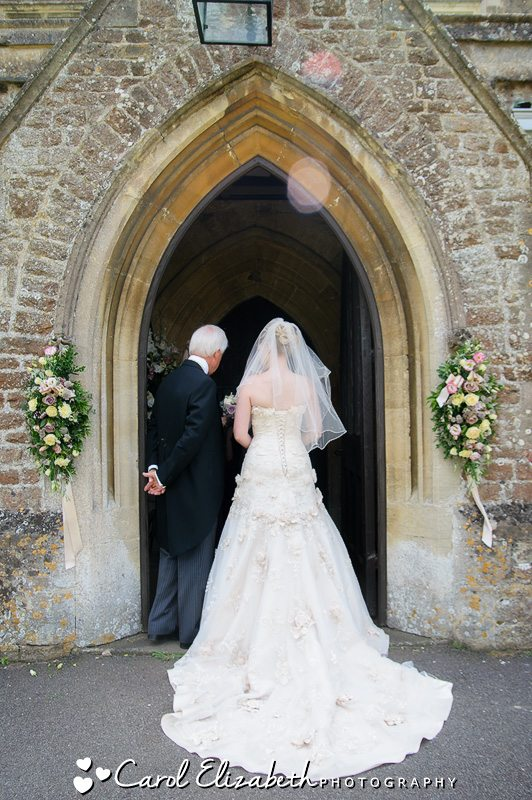 Professional wedding photographer at Eynsham Hall in Oxfordshire
