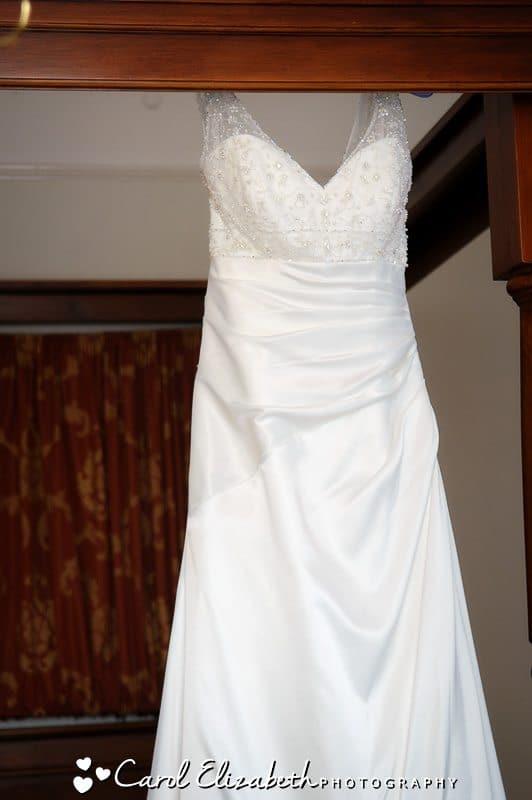 Wedding dress at Steventon House wedding
