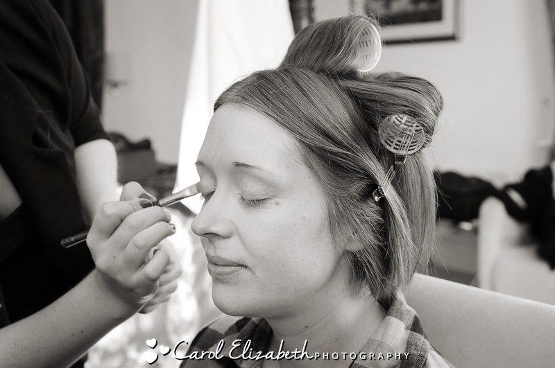 Bridal preparations during wedding at Steventon House